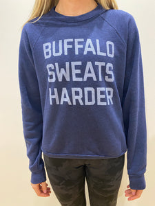 Buffalo Sweats Harder™ Crew Neck- Navy