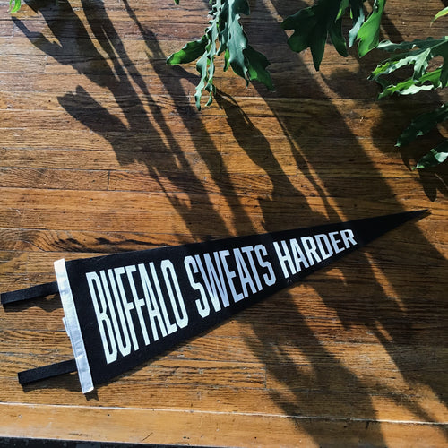 Buffalo Sweats Harder Oxford Pennant