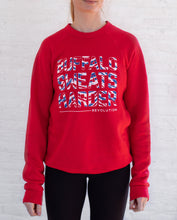 Load image into Gallery viewer, Buffalo Sweats Harder™ Crew Neck - Buffalo Football Red