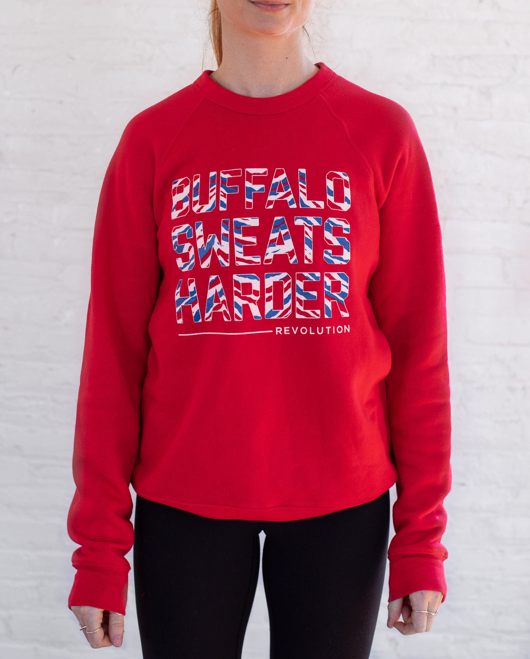 Buffalo Sweats Harder™ Crew Neck - Buffalo Football Red