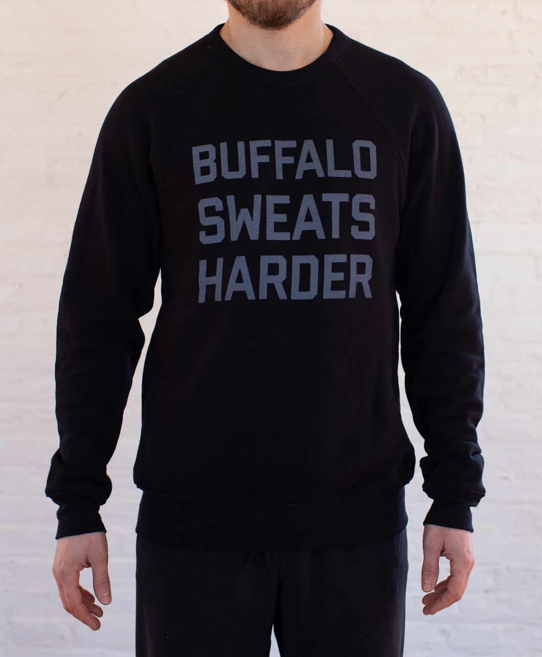 Buffalo Sweats Harder™ Crew Neck - Black