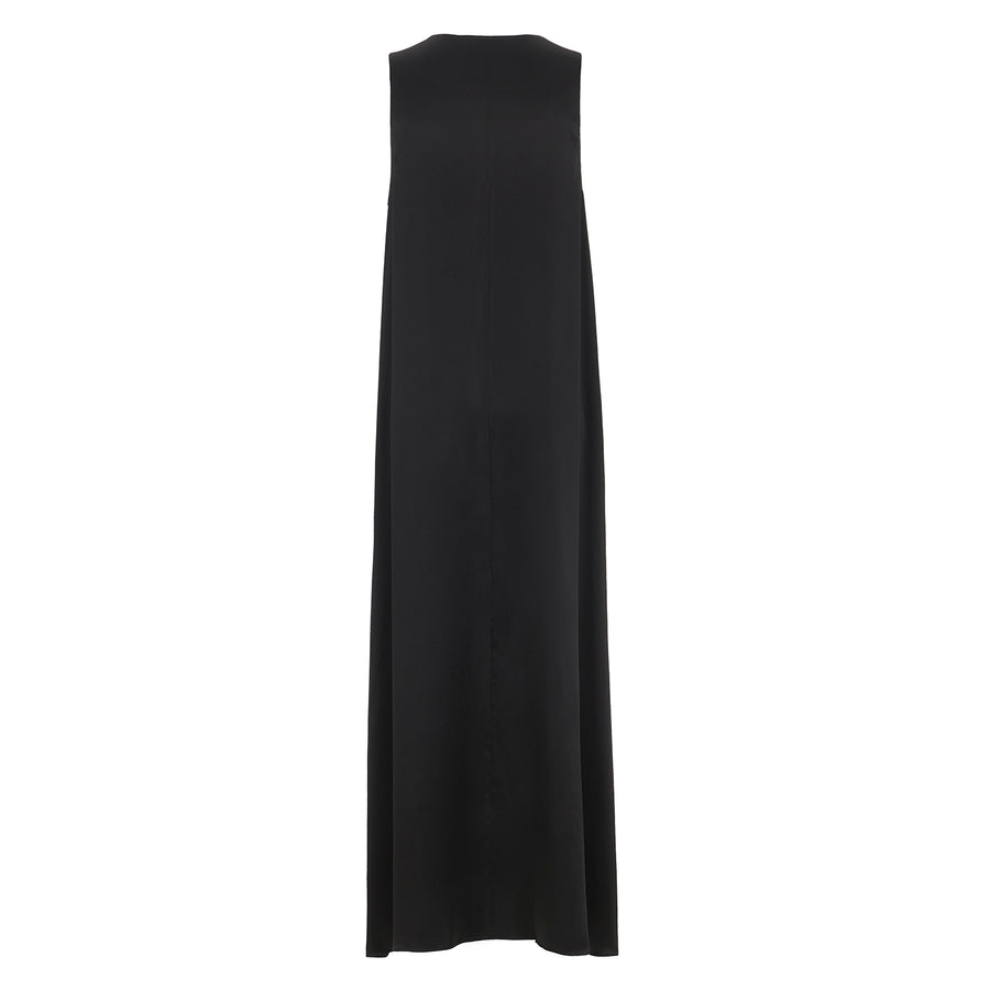 Maxi Dress in Black Silk.
