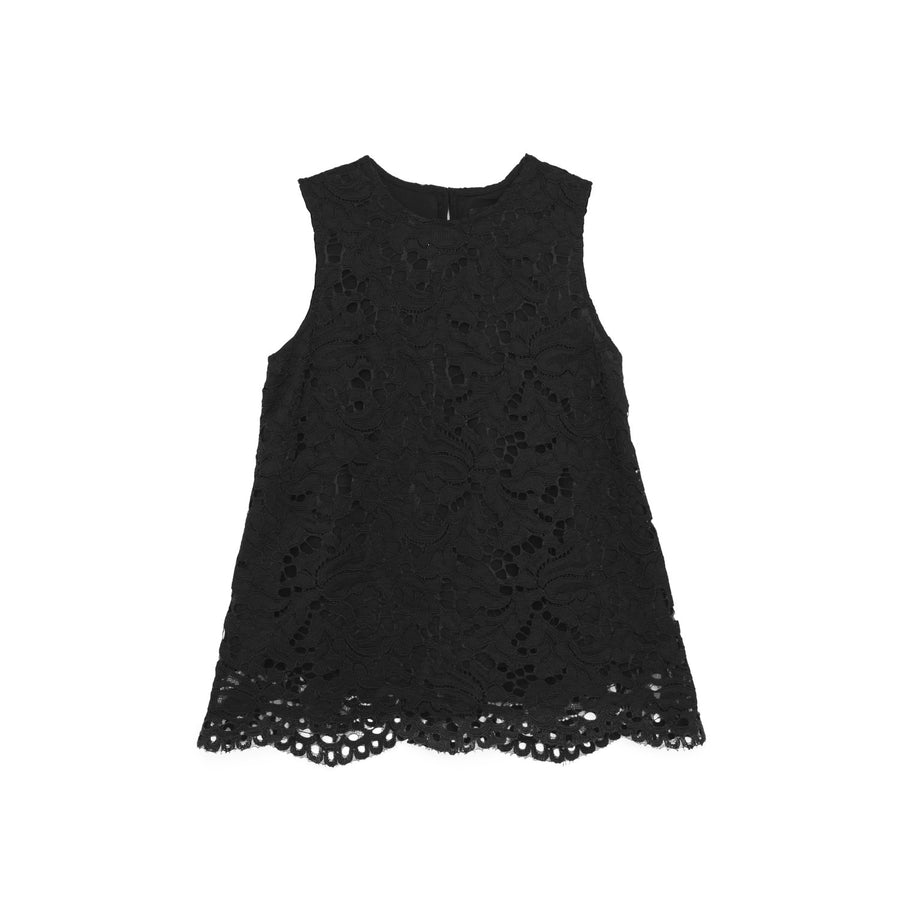 Lace Top in Black.