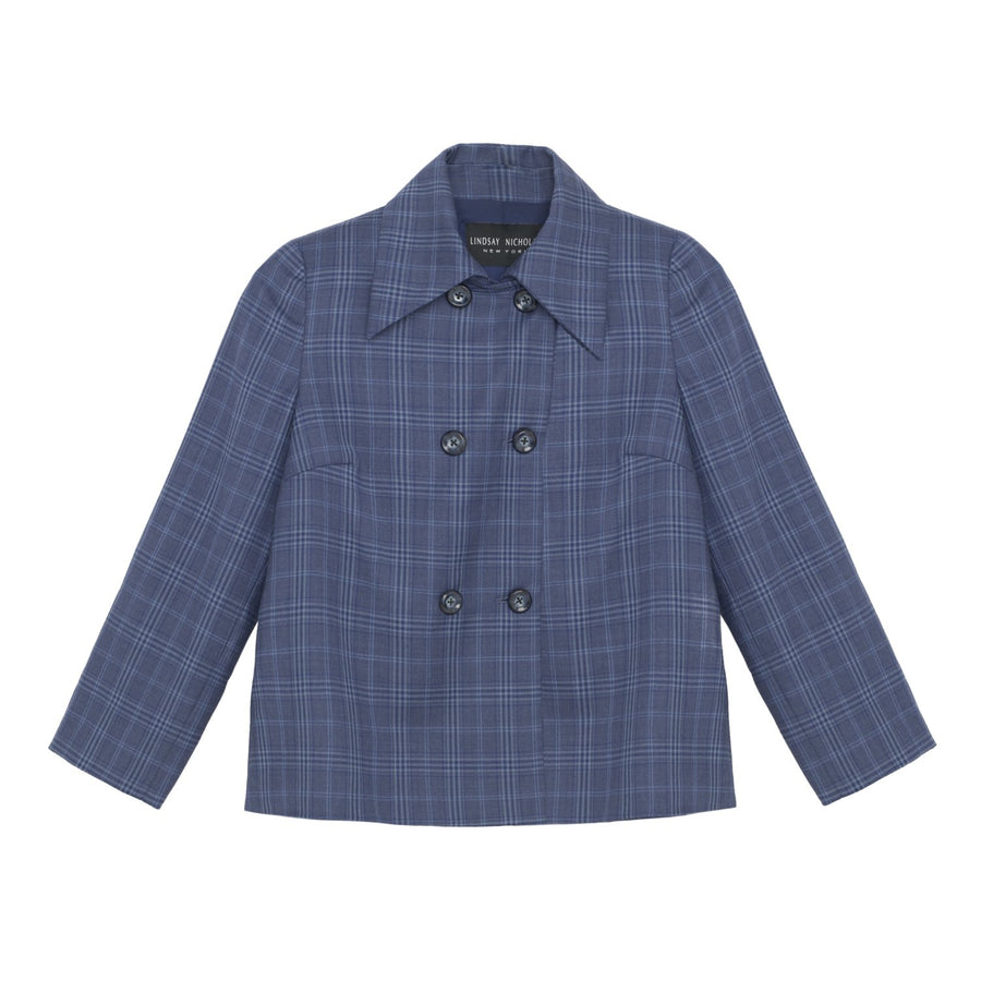 Double-Breasted Jacket Hickey Blue Plaid.