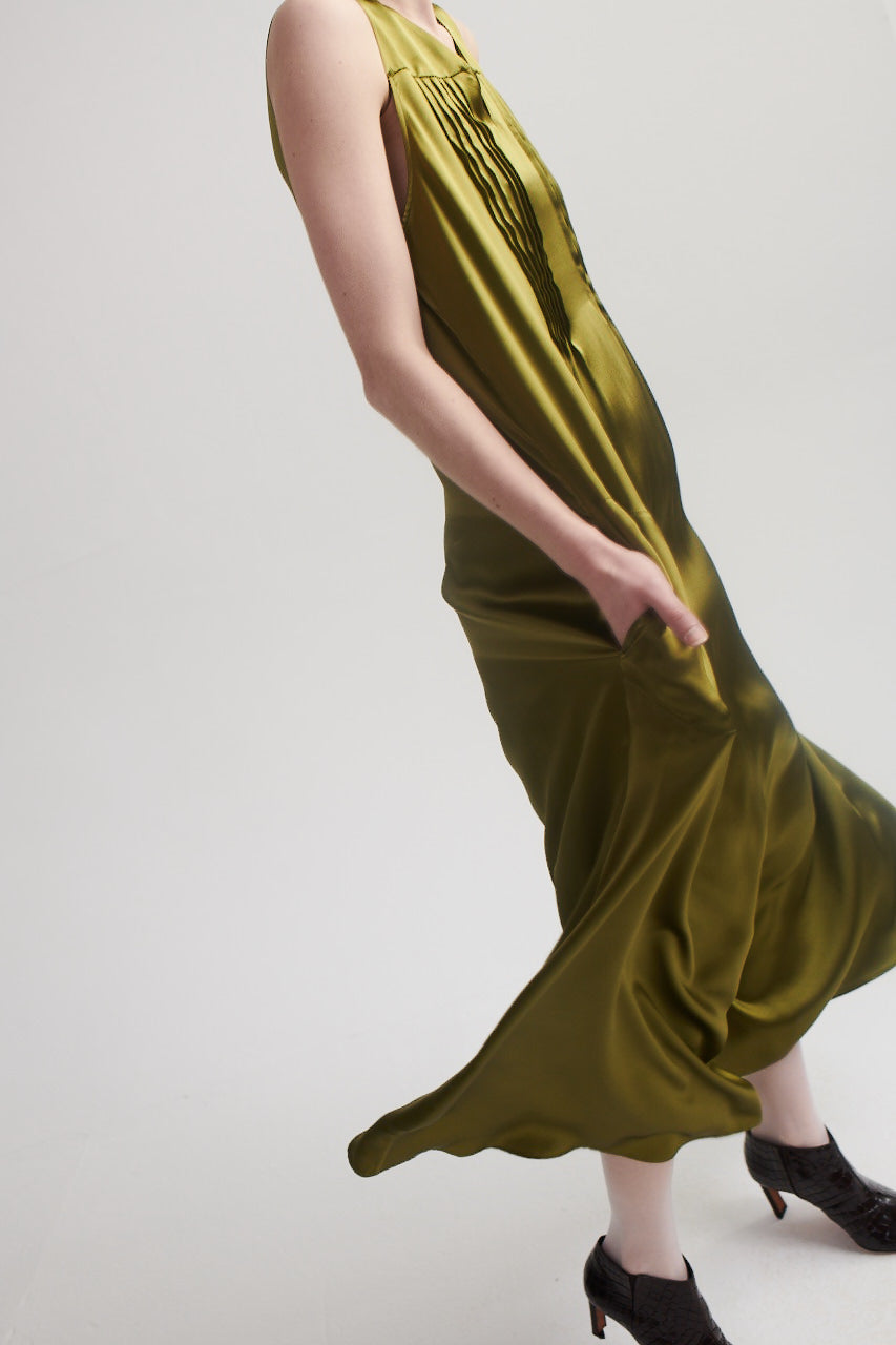 Maxi Dress in Chartreuse.