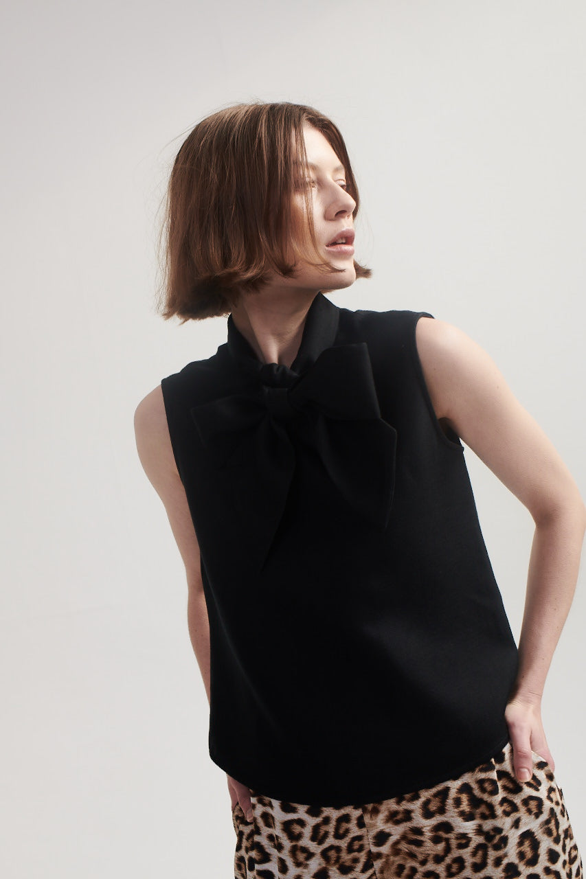 Bow Blouse in Black