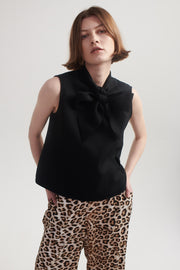 Bow Blouse in Black.