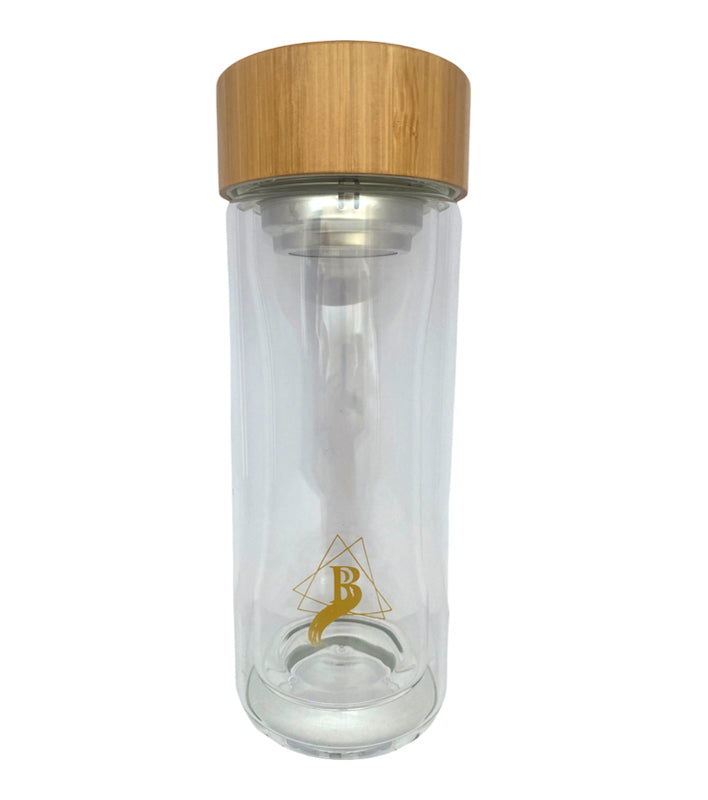 Double Glass Jar with Bamboo Lid