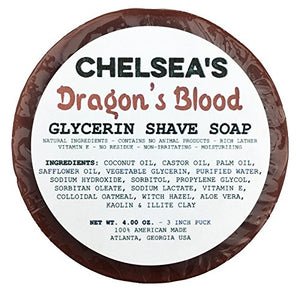 Chelsea's Dragon's Blood Shaving Soap