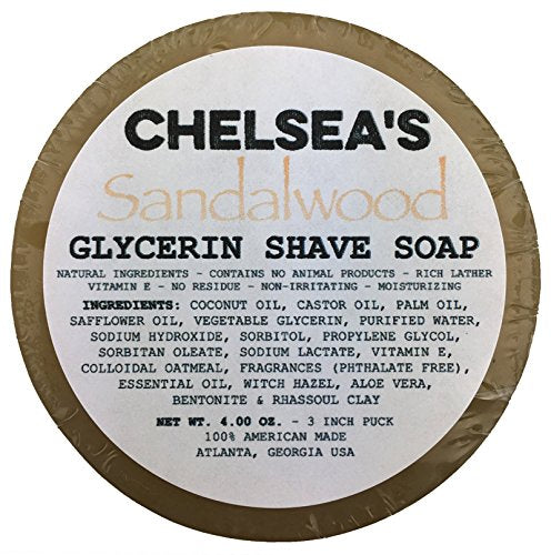 Chelsea's Sandalwood Shaving Soap