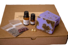 Load image into Gallery viewer, Hibiscus & Lavender Goats Milk M&P Soap Making Kit 1 & 2 lb