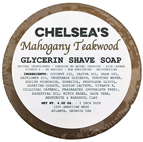 Chelsea's Mahogany Teakwood Shaving Soap
