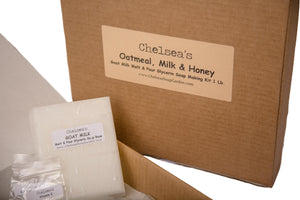 Oatmeal, Milk & Honey M&P Soap Making Kit 1 & 2 lbs.