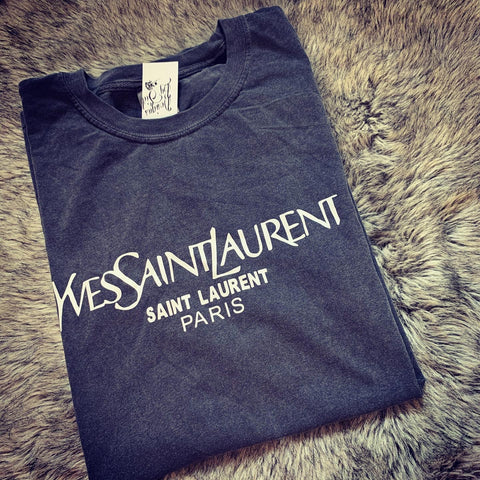 READY TO SHIP YSL Designer Inspired Oversized Heavy Weight Tee