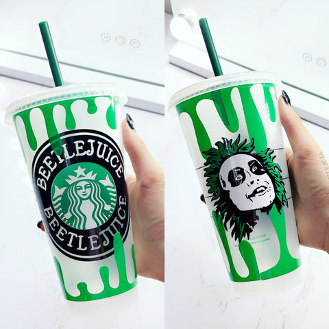 BeetleJuice Starbucks Cold Cup