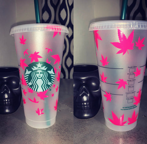 Marijuana Leaf Starbucks Cold Cup