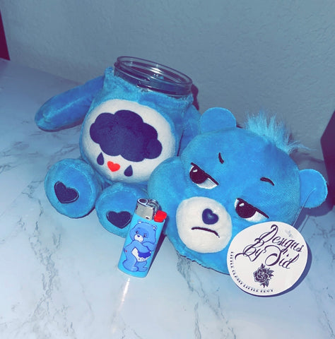 Grumpy Bear Care Bear Stash Jar & Lighter