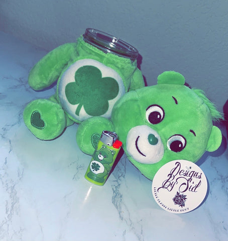 Good Luck Bear Care Bear Stash Jar & Lighter