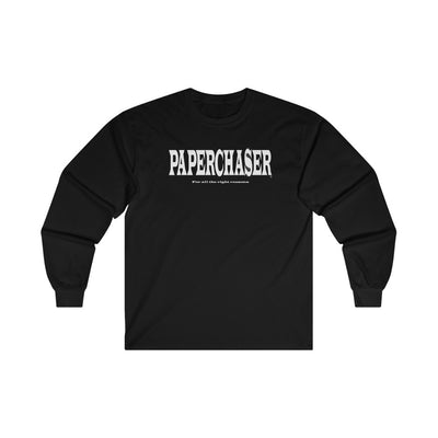 Paperchaser OG: Ultra Cotton Long Sleeve Tee: Black sizes: S-L