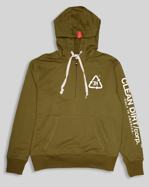 Common Law Hoodie -Olive