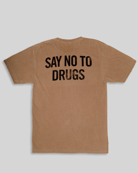 "Say ""No To Drugs"" Tee - Ash Caramel"