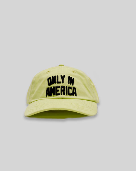 """Only In America"" Dad Hat - Neon"