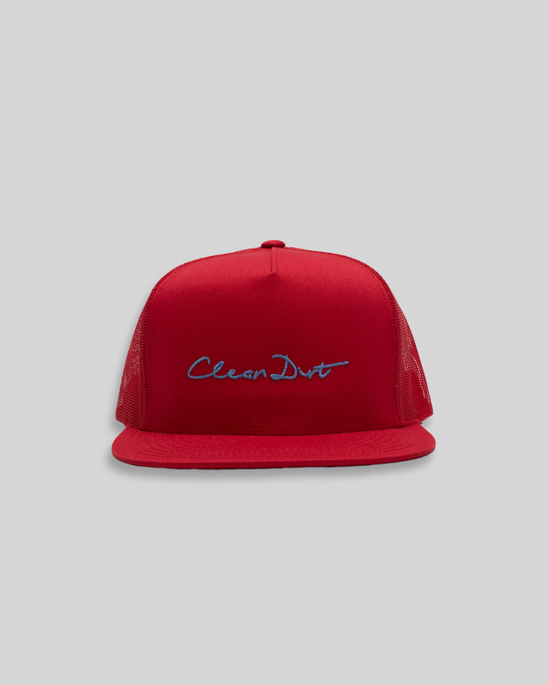 Trucker Hat - Red / Light Blue