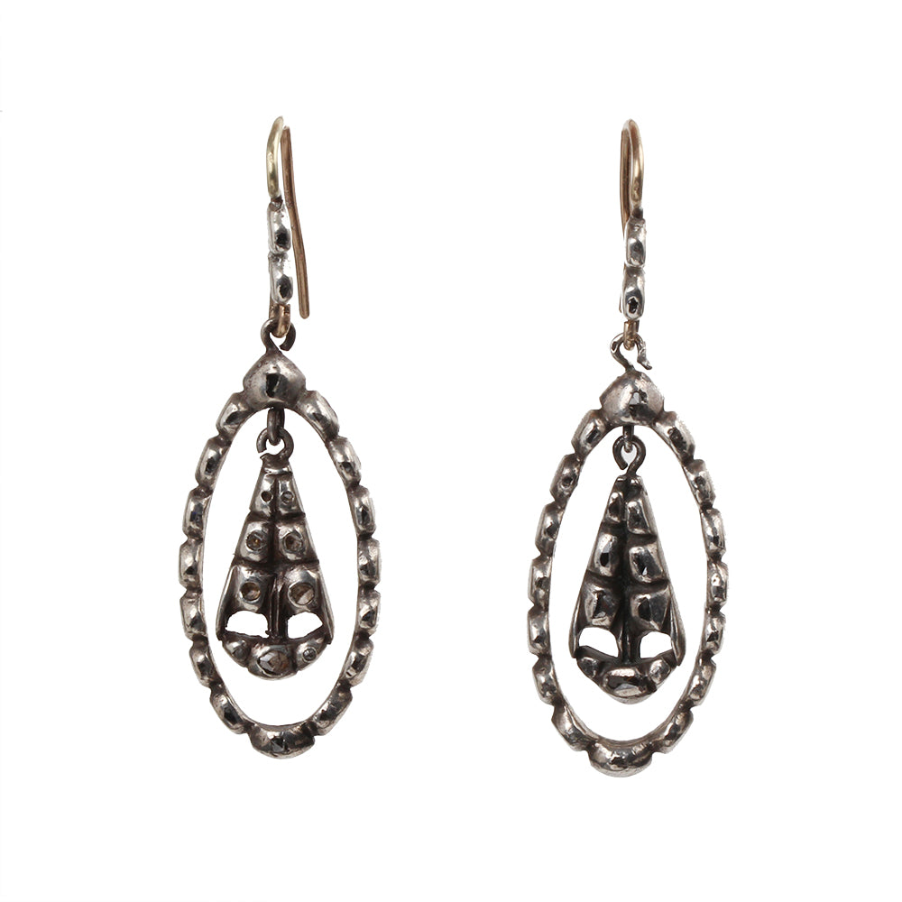 18th Century Provencial Diamond Earrings