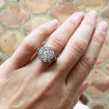 Mid 19th Century Diamond Cluster Ring