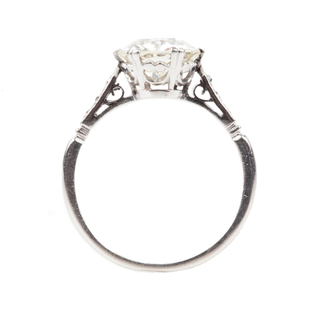 Old European Cut Diamond Ring in Platinum Setting