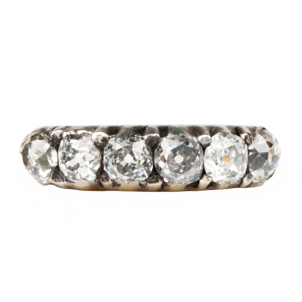 Early Victorian 6 Stone Diamond Half Hoop