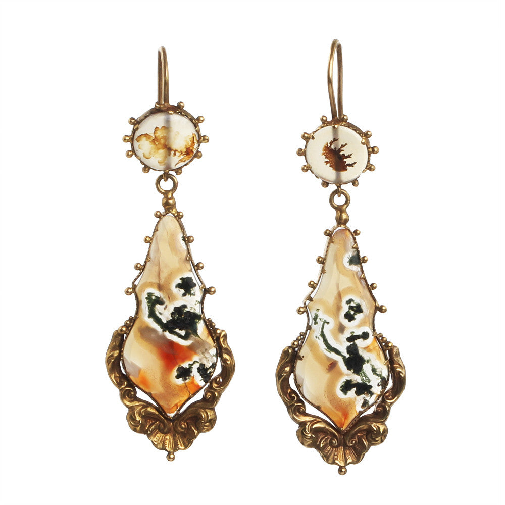 Early 19th Century Agate Earrings