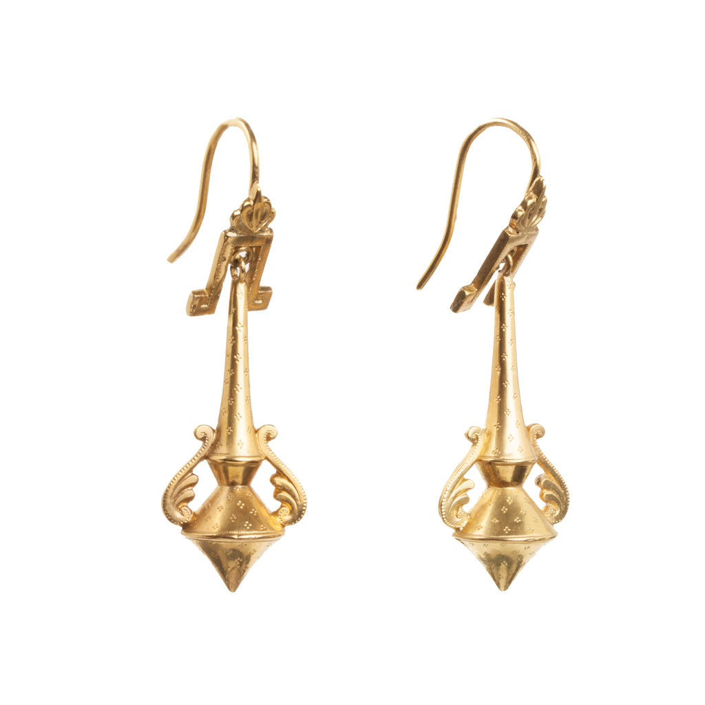 Victorian Gold Amphora Earrings