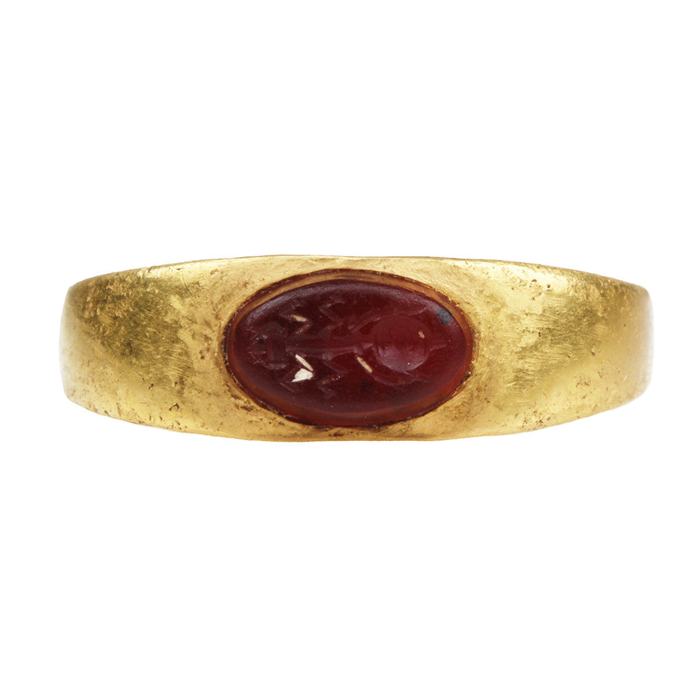 Ancient Roman Ant Intaglio Ring