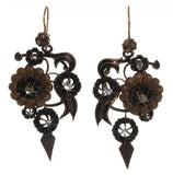 Victorian Gold & Rose Cut Diamond Flower Earrings