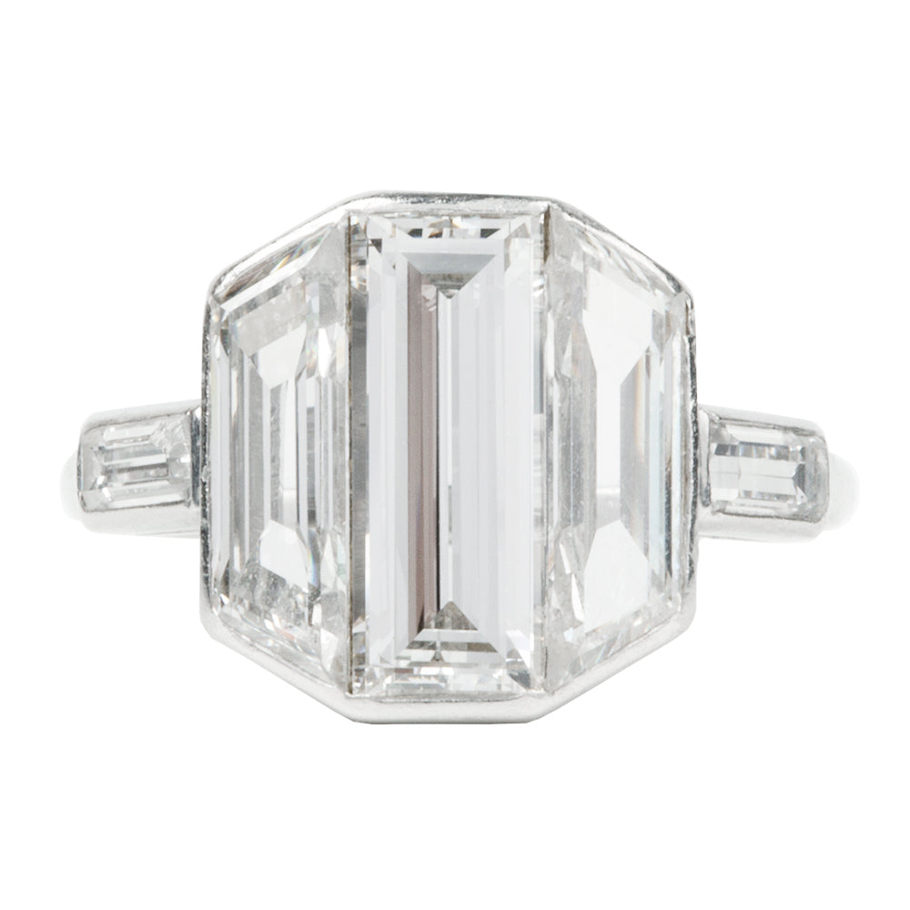 Early 20th Century Emerald Cut Diamond Ring