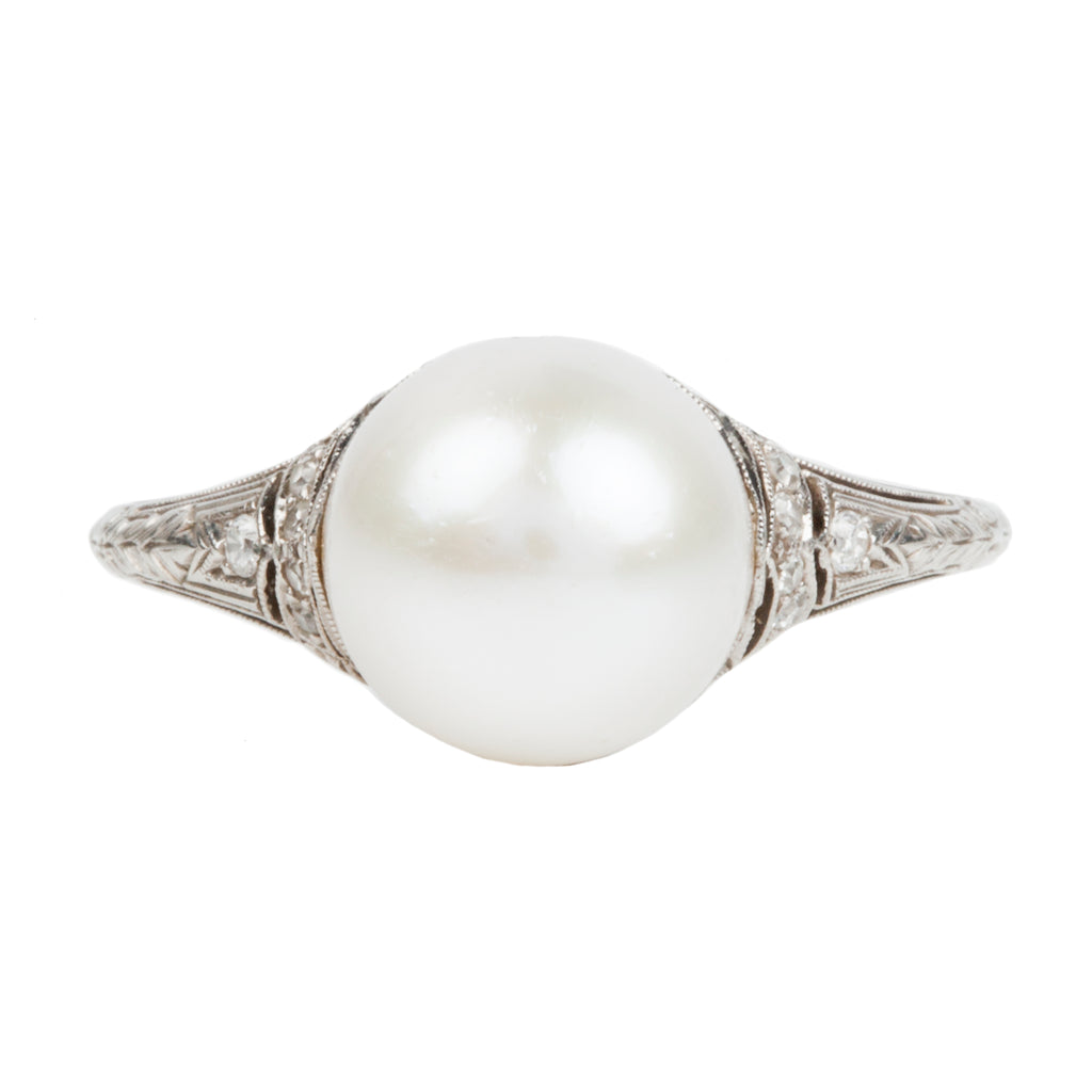 Art Deco Era Pearl Ring