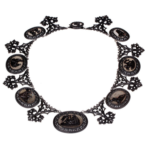 Berlin Iron Plaque Necklace
