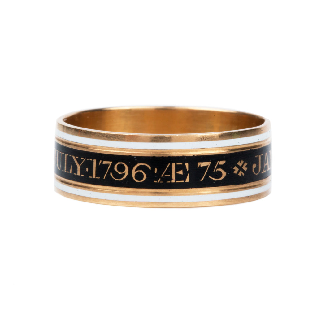 Georgian Era Mourning Enamel Band