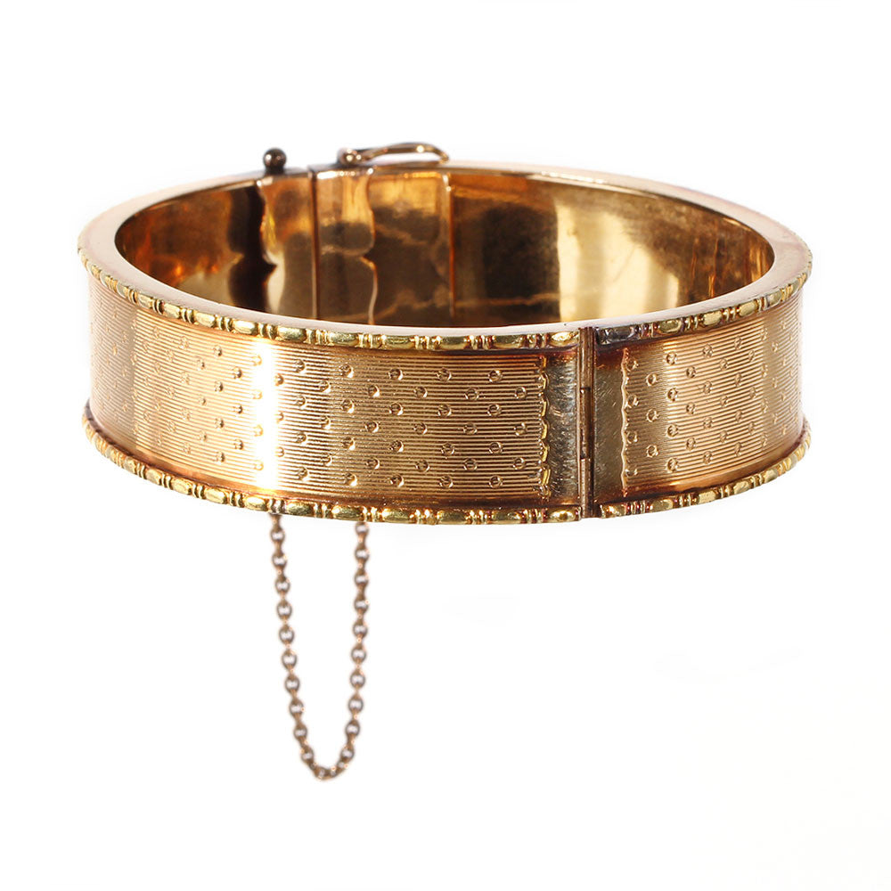 19th Century French Gold Bangle