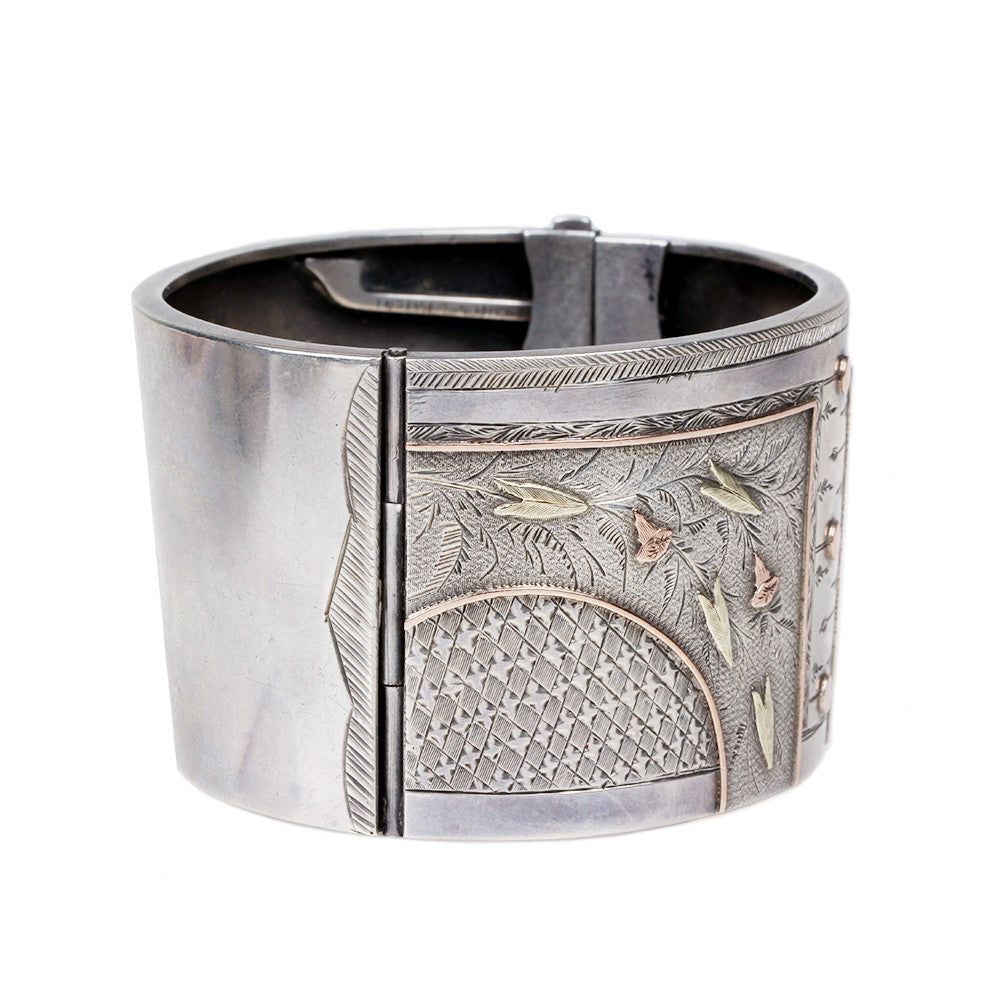 Sterling Silver Button Bangle