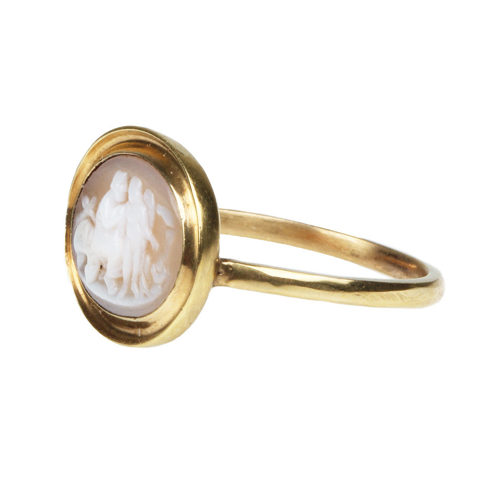 Georgian Carved Shell Cameo Ring