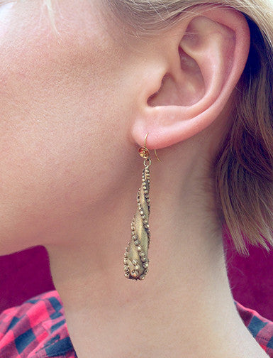 Early Victorian Gold Torpedo Earrings