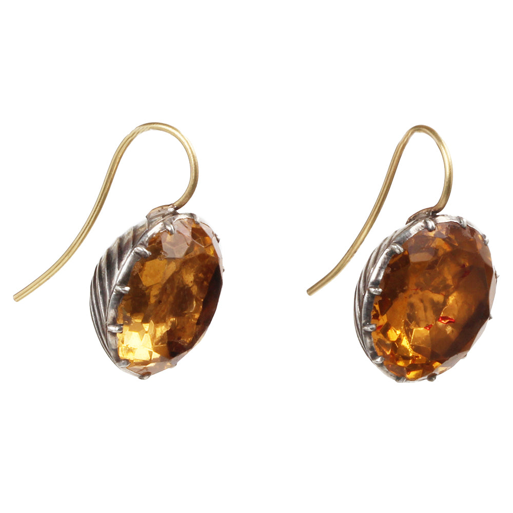 Georgian Era Topaz Paste Earrings