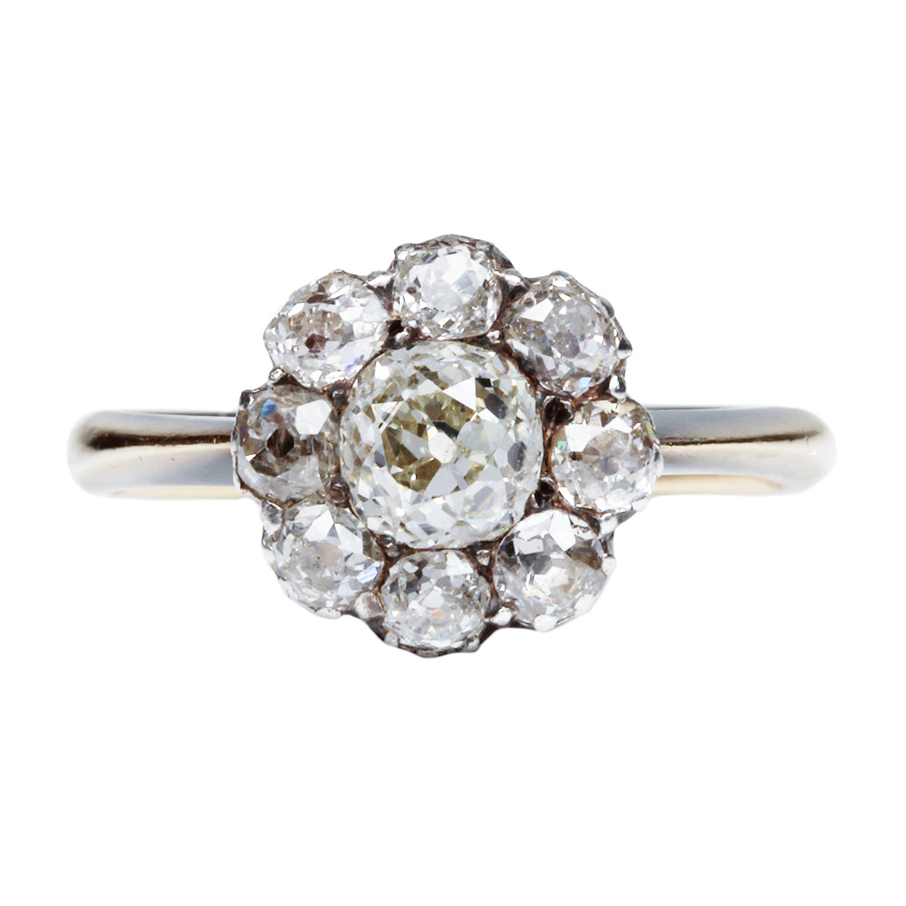 Victorian Diamond Cluster Ring