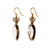 Victorian Carved Rock Crystal Essex Earrings