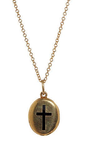 Victorian Enamel Cross Locket Circa 1864