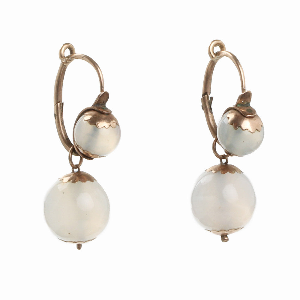 Early Victorian Chalcedony Earrings