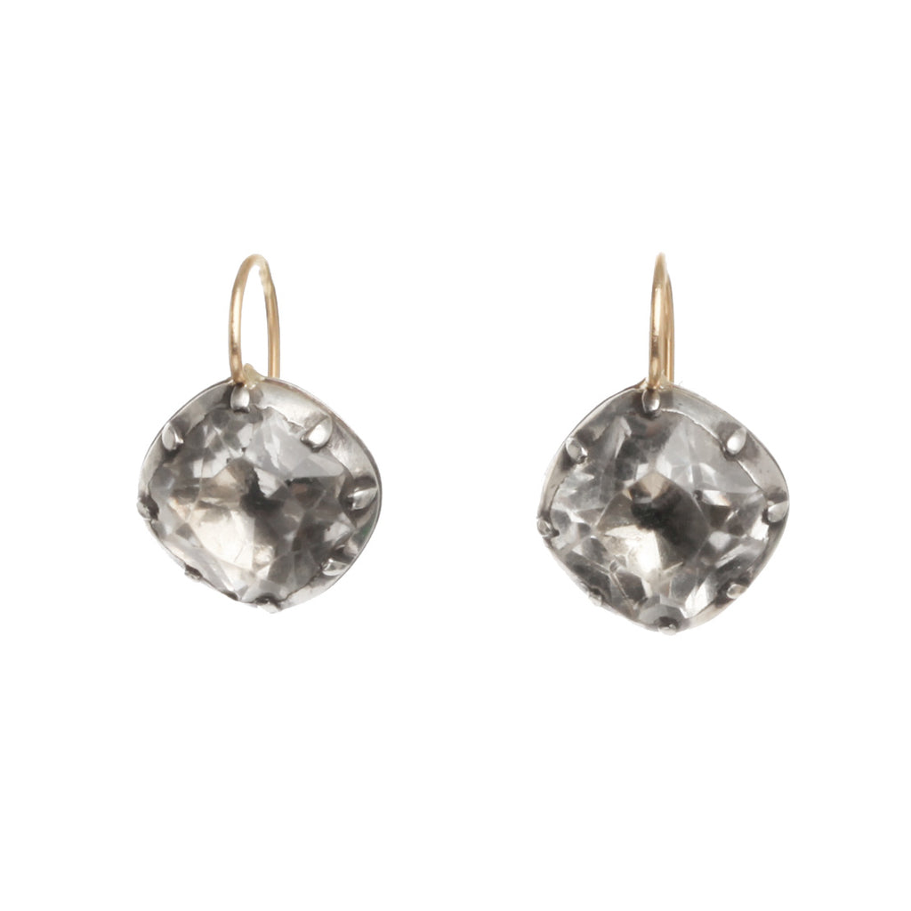 Georgian White Diamond Shaped Earrings
