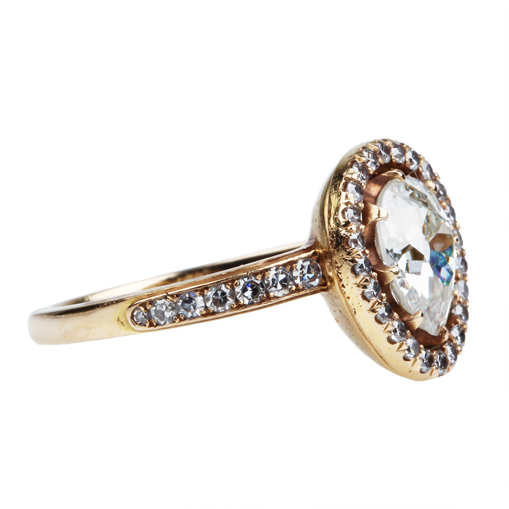 Pear Shaped Diamond Cluster Ring